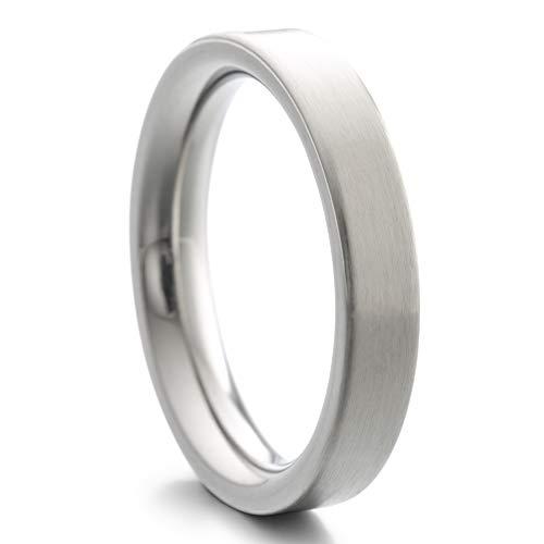Heideman Ring Damen und Herren Paari aus Edelstahl Silber Farben poliert oder matt Damenring für Frauen und Männer Partnerringe strichmatt Gr.53 hr7000-4-53