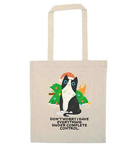 Flox Creative Tote Bag Don't Worry I Have Everything sotto controllo completo, Beige (Naturale), Taglia unica