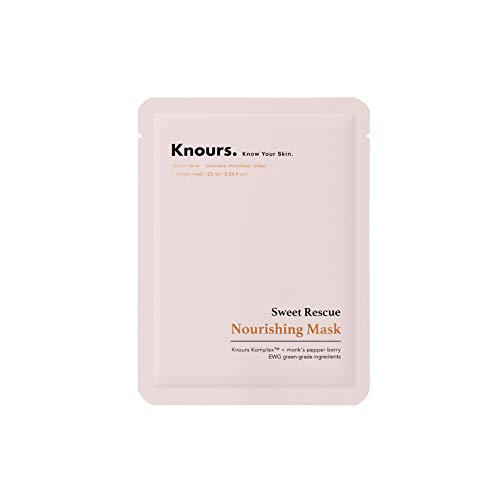 Knours - Sweet Rescue Nourishing Mask | Rose Water Toning Mask Hydrating Brightening Rejuvenating Age-defying Facial Nourishing Sheet Mask - EWG Verified Clean Beauty