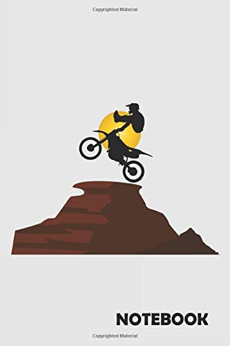 NOTEBOOK: Motocross Bike: Notizbuch / Notebook / Journal / Taschenbuch Geschenk (6 x 9 Zoll - 110 Seiten - halb blank/ halb liniert) Notebook, Notizblock, Bloc-notes, Bloc de notas, Blocco note