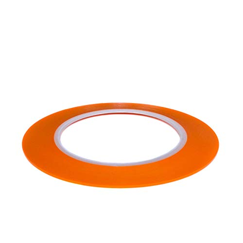 DonDo Fineline Konturenband Zierlinienband lackieren Airbrush Masking Tape Orange 1,6mm x 55m
