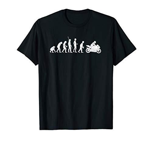 Evolution Motorrad Motorradfahrer Biker Motorsport Bike T-Shirt