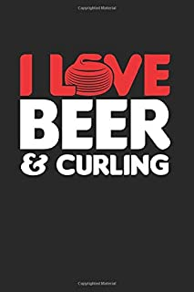 "I love Beer &  Curling: Cool Animated Design For Curling Lover Player Athlete Notebook Composition Book Novelty Gift (6""x9..."