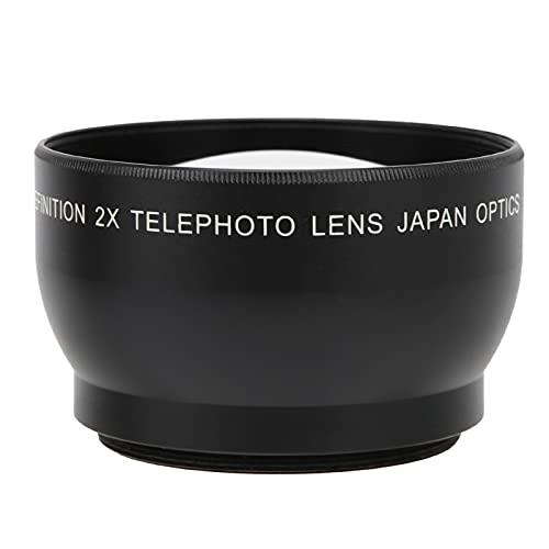 Teleobjektiv, 49 Mm 2.0X High-Definition Super-Teleobjektiv mit 62 Mm Frontgewinde, für Alle Kameraobjektive mit 49 Mm Kaliber