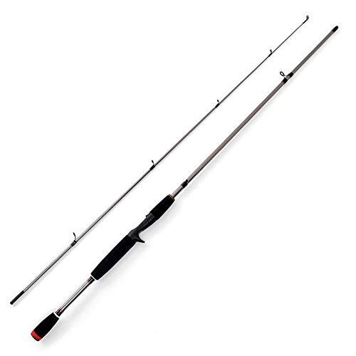 HYMY Angelrute2 Segmente Angelrute Glas Stahl Spinnguss Angelrute Korkengriff-Forellenruten (Size:1.8M; Color:Casting Rod)