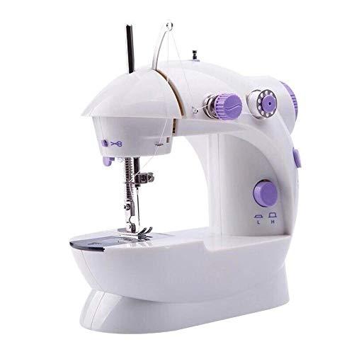 Máquina de coser en casa mini máquina de coser de ropa de escritorio con luz eléctrica pequeña multifunción automática