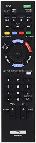 Sony Remote Control RM-YD103 149276711 for KDL-60W630B KDL60W630B KDL-40W590B KDL40W590B KDL-40W600B KDL40W600B KDL-48W600B KDL-60W610B Led Tv (Renewed)