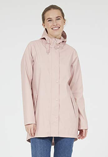 Weather Report Damen Regenmantel Petra W RAIN Jacket mit umweltfreundlicher Beschichtung 358 Pink Sand, 38