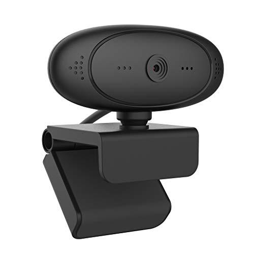 WDFVGEE 1080P-HD Webcam con micrófono giratorio para PC de sobremesa Cámara Web Cam Mini para accesorios para ayudar a tu trabajo y vida