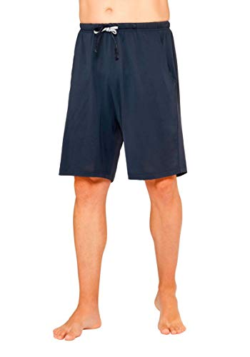 hajo Herren Pyjama Hose kurz Klima Komfort Art. 50033 609 Marine, Größe:60 / 4XL