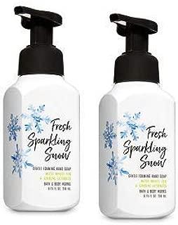 Bath and Body Works 2 Fresh Sparkling Snow Gentle Foaming Hand Soap. 8 Oz