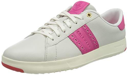 Cole Haan Grandpro Tennis Classic Edition Sneaker, Zapatillas Mujer, Marfil CK Fucsia Oro Multi Correa Óptica Blanco Llama Scarlet, 38.5 EU