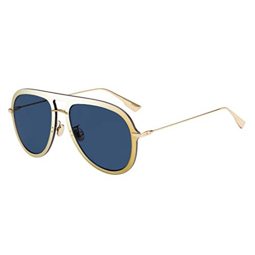 Christian Dior DIORULTIME1 A9 Brille, GOLD BLUE/BL BLU, 57 Frauen