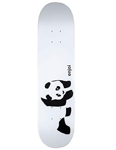 Enjoi Whitey Panda Youth Logo R7 - Tavola da skateboard, 19 cm, colore: Bianco