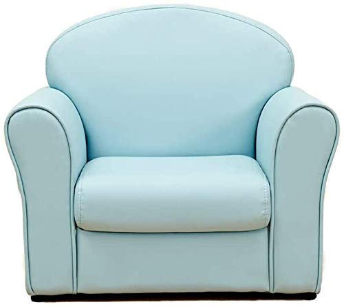 Sofá de un solo niño, Color Color Color Cuero Baby Baby Sofá, Niño Chica Lectura Sillón,Blue