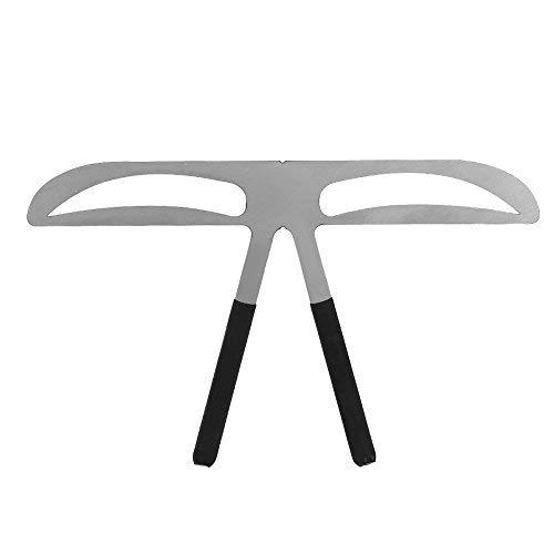 3 types règle de sourcil - règle d'équilibre de positionnement pour l'outil de mesure de maquillage permanent, gabarits de stencil sourcil bricolage - outil de positionnement (Natural Eyebrow)