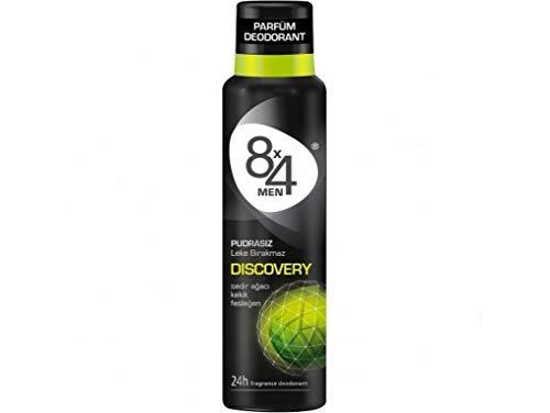 8x4 Men Deo Discovery Spray, ohne Aluminium, 1er Pack (1 x 150 ml)