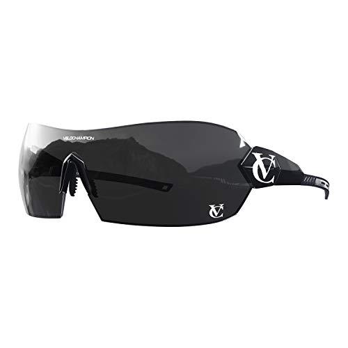 VeloChampion Negro Hypersonic - Gafas de Sol, Color Negro Puente, Espejo/Amarillo/Lente Transparente, Libre Caso