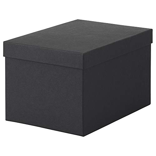 IKEA.. 603.954.85 Tjena Storage Box with Lid, Black