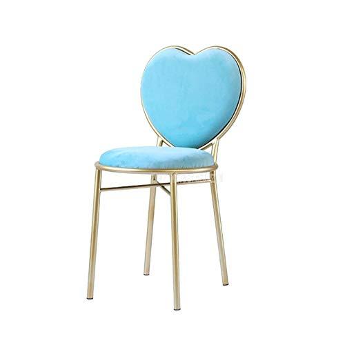 Duanangshangmaoouxingongsi. Innovativo Fashion Nordic Minimalista caffè caffè caffè Sedia Love Heart Shape Backrest Bannelette Sedile Deliposto Metallo Poltrona per Il Tempo Libero