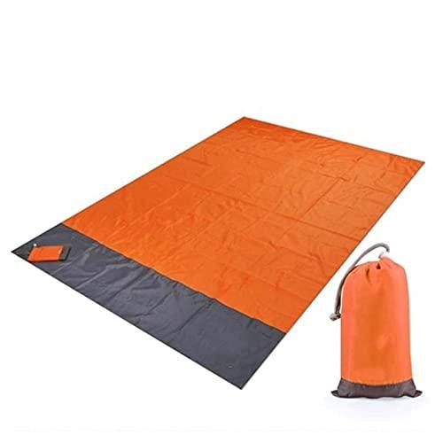 LCISCOUP ピクニックマット 防水キャンプマットレスアウトドア携帯用軽量の折りたたみ式ピクニック毛布キャンプ場マットテントビーチブランケット (Color : Orange, Size : 140x200cm)