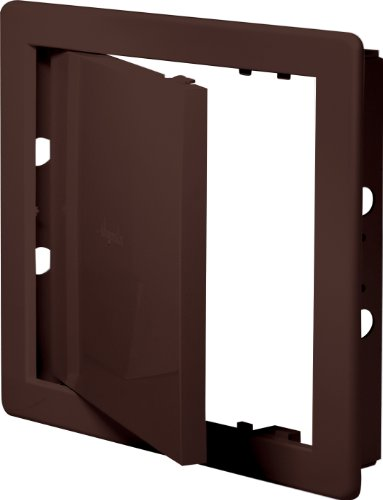 Revisionsklappe braun 15 x 15 cm ABS Kunststoff 150 x 150 mm Revisionstür Revision Wartungstür Wartung Reinigungsklappe Wartungsöffnung DT 10br
