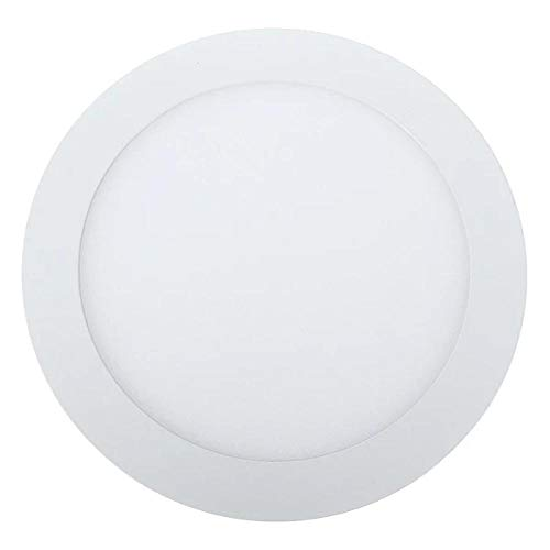 Ultra delgado 3W / 6W / 9W / 12W / 15W LED Rejilla empotrada en el techo Downlight Panel delgado y redondo Light-White_6W