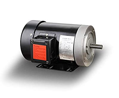 "Three Phase 2 HP Electric General Purpose Motor, 3450RPM, 56C Frame, 5/8"" Shaft Size, 230/460V, TEFC"