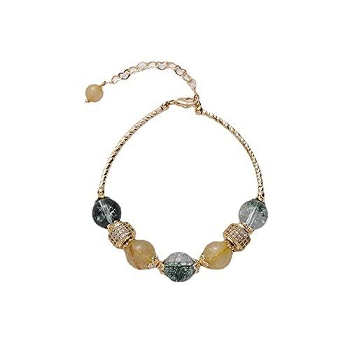 Pulsera de perlas Pulsera de piedra natural Pulsera de perlas Pulsera elástica Pulsera de mujer Pulsera elástica Regalo del día de la madre