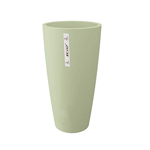 INCARTAMI-ITALIA Vaso Moderno Salvia Altezza 70 DIAMETRI 35 ad Uso Interno ed Esterno con Cachepot Rimovibile per Pulizia