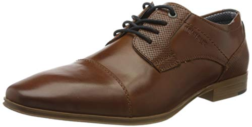 TOM TAILOR Herren 8081701 Oxfords, Braun (Cognac 00205), 43 EU