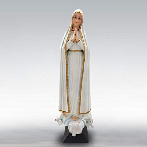LDCP Estatuas de la Virgen María Santa Madre de Dios Resina artesanía Adornos decoración del hogar Sala de Estar Dormitorio Resina Obra de Arte en Caja, como se Muestra, 9.8x9.5x30.5cm