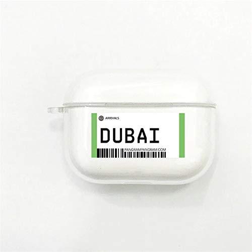 Carcasa protectora compatible con AirPods Pro Case, funda de protección de silicona antigolpes, compatible con Apple Airpods Pro/Airpods 3, Dubai