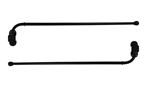 "Urbanest 1/2"" Adjustable Wall Mounted Swing Arm Rods, 14""-24"", Matte Black"