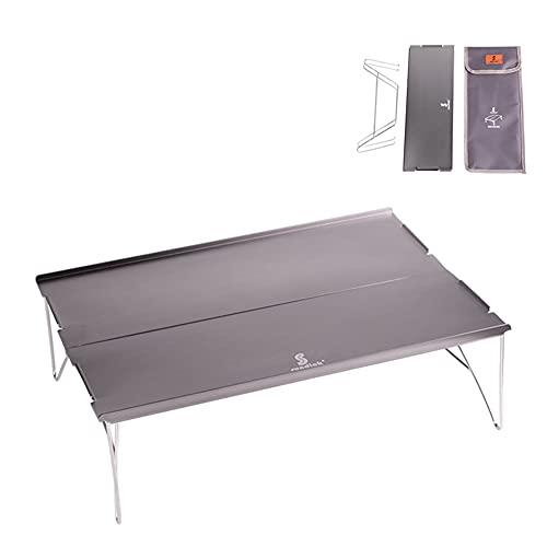 Zuoox Mesa plegable mini portátil plegable para exteriores, camping, picnic, mesa, escritorio, color gris