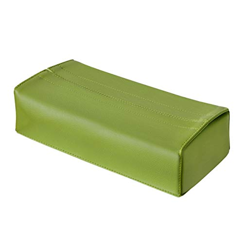 TEES FACTORY 国産 PVC レザー ティッシュ ケース JECYグリーン