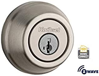 Kwikset 99100-005-R 910 SmartCode Electronic Deadbolt Featuring SmartKey and Z-Wave Technology in Satin Nickel (Renewed)
