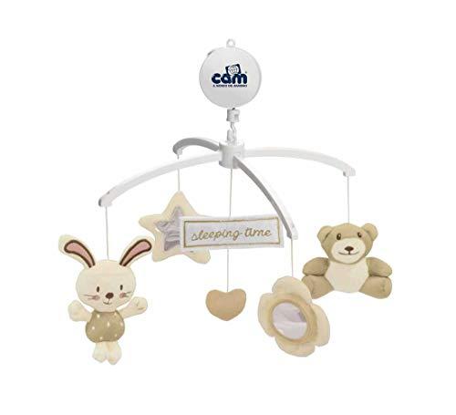 CAM Mobile GIOSTRINA Mechanische Spieluhr mit Plüschfiguren   Viele Spielmöglichkeiten   Für das Beistellbett Cullami