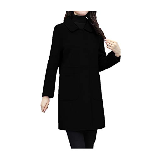 N\P Abrigo de lana de doble cara para mujer grande de invierno de mediana edad para madres de mediana edad gruesa