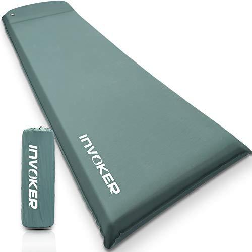 Almohadilla de dormir para acampar – 3 pulgadas de espuma viscoelástica ultra gruesa autoinflable, con almohada de inflado rápido en 25 s para mochilero