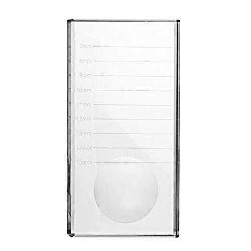Lorenlli Porte-verre de colle à cils Palette de colle à cils Transparent Extension de cils Stand Outil de maquillage en verre pour extensions de cils