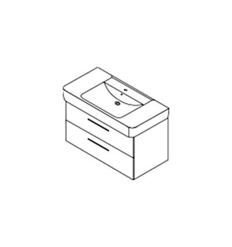 Burgbad Waschtischunterschrank für Keramag Renova Nr. 1 Plan 100cm, WUIF090