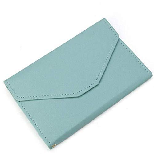 EgBert Honana HN-PB2 9 Farben Mode Leder Reisepassinhabers Kreditkarte Tickets Organizer - Hellblau