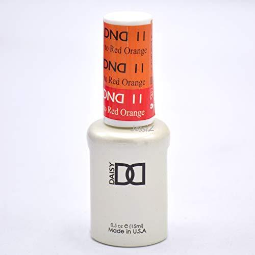 DND gel polish Mood change Orange to Red 011