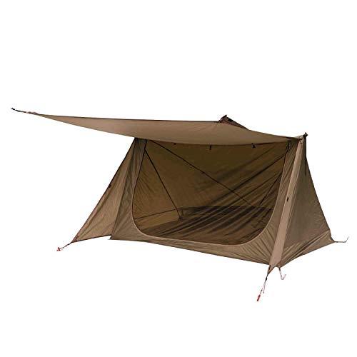 OneTigris Zelt für 1 - 2 Personen Backwoods Bungalow 2,0 Camping Zelt leichtes Wurfzelt Wasserdicht 4 Jahreszeit Bushcraft Shelter Zelt für Wandern Outdoor|MEHRWEG Verpackung (Coyote Braun)