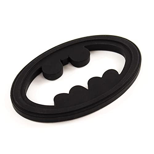 Bumkins Silicone Teether, DC Comics Textured, Soft, Flexible, Sensory, Gum Soothing – Batman