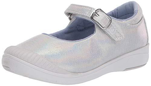 Stride Rite Girl's SR Reagan Sneaker, Iridescent, 8.5 Wide Toddler