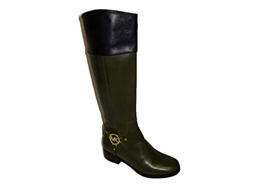 Michael Kors Fulton Harness Boot Leather Loden Women's Riding Boots (5.5)