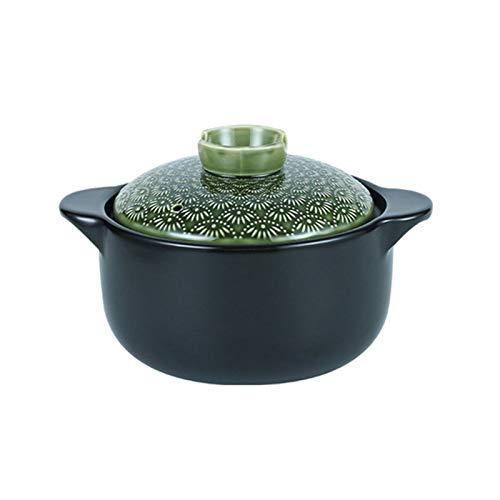 XHH Suppe Auflauf Lehm Casserole Topf Terrakotta-Suppentopf Keramik Casserole Lehm Kochtopf-Hohe Temperaturbeständigkeit, Wärmespeicherung, Upgrade-Nutrition and Delicious (Size : 6L)