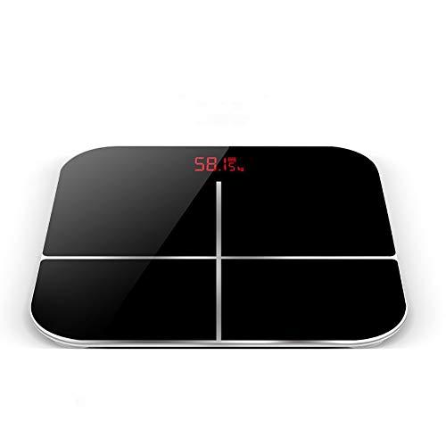 Actoor Báscula Baño, Diseño Delgado Superficie Más Grande Detección de Gravedad Inteligente Sensor Tipo G para la Grasa Visceral/Músculo/Edad Corporal, etc 30 * 30cm, 180 kg